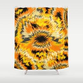 Fire Flower Ikat Shower Curtain