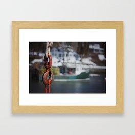 Hooked I Framed Art Print