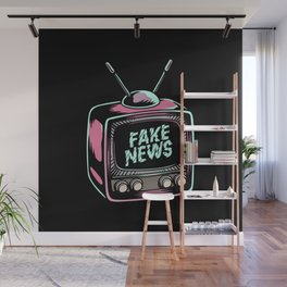 Fake News Illustration Wall Mural