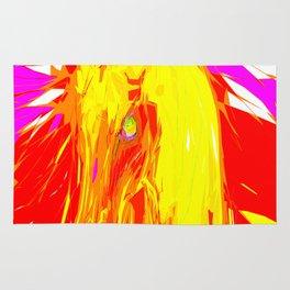Fire Unicorn Rug