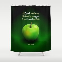 Apple Seed Shower Curtain