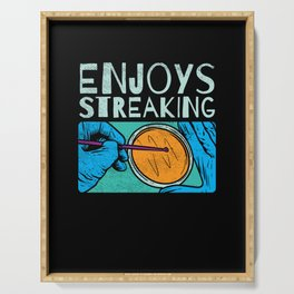 Enjoys Streaking For Microbiology Serving Tray