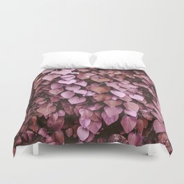 Heart-shaped Leaf Wall Valentine's Day Tropical Spring Blush Pink Pattern Duvet Cover