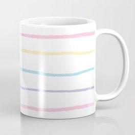 Pastel colors lines pattern Coffee Mug