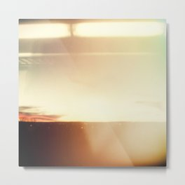 Abstract Minimal New Mexico Sunset, Square Format Minimal Collage, Modern Photography, Pastel Desert Metal Print
