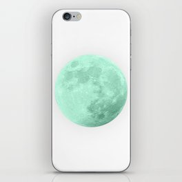 TEAL MOON iPhone Skin