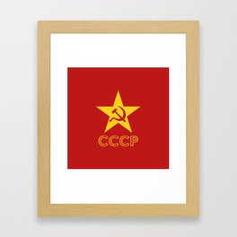 Star Hammer Sickle CCCP Design Framed Art Print