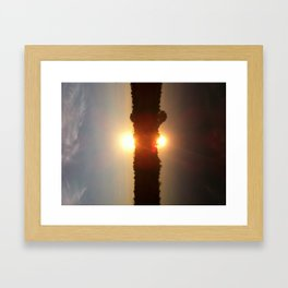 Sunset Over Water Framed Art Print