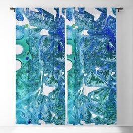 Sea Leaves, Environmental Love of the Ocean Blue Blackout Curtain