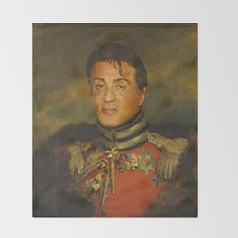 Sylvester Stallone - replaceface Throw Blanket