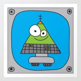 Triangle Robot Art Print