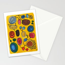 Orbs N Lines - Plants Seeds and Peacock Stationery Cards