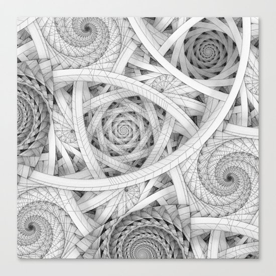 GET LOST - Black and White Spiral Canvas Print