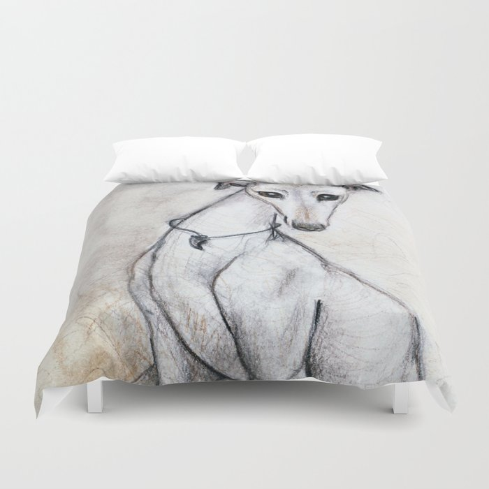 The Greyhound Wearing His Thorn Duvet Cover