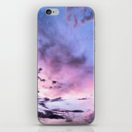 fly up to the blue pink sky iPhone Skin