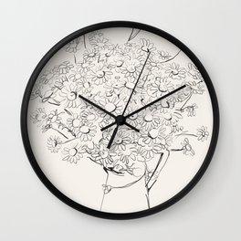 Flowers sketch art  -Daisy - Bouquet  Wall Clock