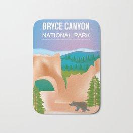 Bryce Canyon National Park, Utah - Skyline Illustration by Loose Petals Bath Mat