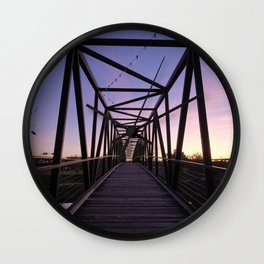 Sunset At Brown's Island in Richmond VA Wall Clock