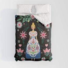 Folk Art Forest Fairy Tale Fraulein Comforters
