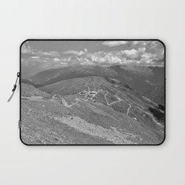 fisser yoke alps panorama serfaus fiss ladis tyrol austria europe black white Laptop Sleeve