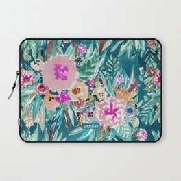 LESS IS BORE Colorful Tropical Floral Laptop Sleeve