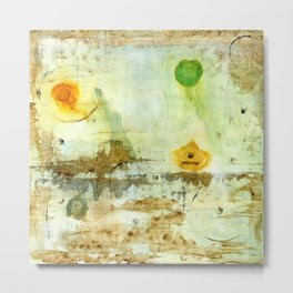 Drifting, Abstract Landscape Art Painting Metal Print