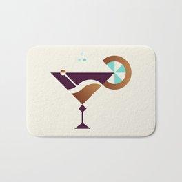 Cocktail // Geometric Minimalist Illustration Bath Mat