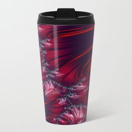 Bonding Ice on Frozen Lake Fractal 2 - abstract art Travel Mug