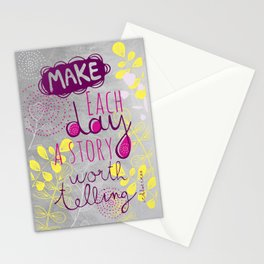 Inspiring quote Stationery Cards