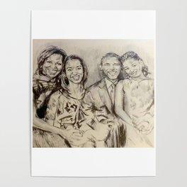 Obama Family Poster