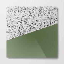 Granite and kale color Metal Print