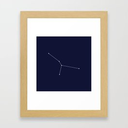 Cancer Astrology Star Sign Blue Minimal Framed Art Print