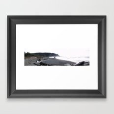 La Push Beach (Panoramic View) Framed Art Print
