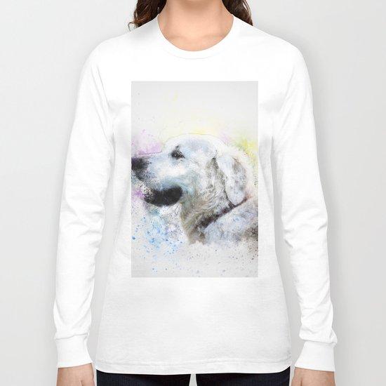 Abstract Colorful Dog Long Sleeve T-shirt
