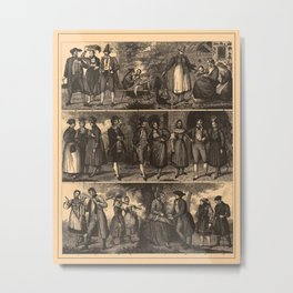 Iconographic Encyclopedia of Science, Literature and Art (1851) - Germans Metal Print