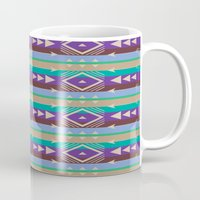 tribal Mugs featuring Tribal by camilla bologna