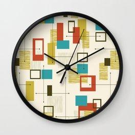 Mid Century Modern, Sputnik Pattern Wall Clock
