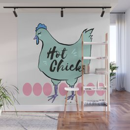 Hot Chick: Blue Wall Mural