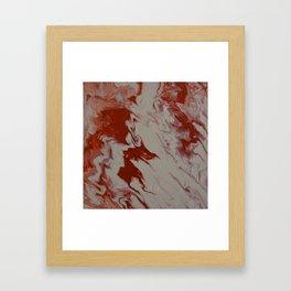 Orange Creamsicle Pour Framed Art Print