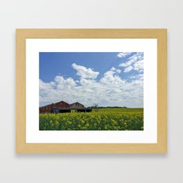 Abandoned Barn in the English Countryside Framed Art Print