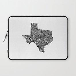Typographic Texas Laptop Sleeve