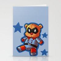 bucky Stationery Cards featuring bucky!bear by zombietonbo