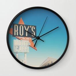 Roys Motel & Cafe ... Wall Clock