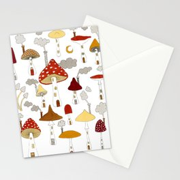 mushroom homes Stationery Cards
