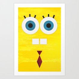 Minimal Sponge Art Print