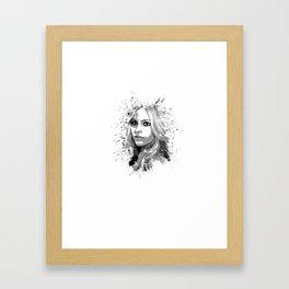 avril lavigne desain 001 Framed Art Print
