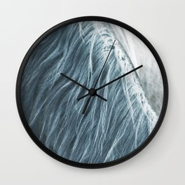 Horse mane photography, fine art print n°1, wild nature, still life, landscape, freedom Wall Clock