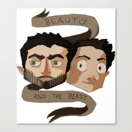 The Beauty and the Beast [Sterek] Canvas Print