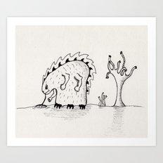 Desert Creature Art Print