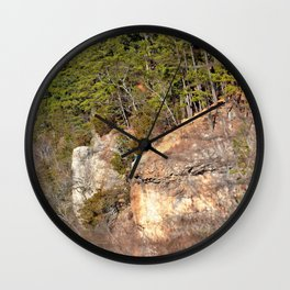Climbing Up Sparrowhawk Mountain above the Illinois River, No. 3 of 8 Wall Clock